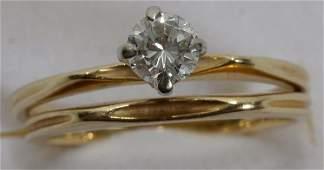 111137 ORANGE BLOSSOM 18K GOLD  DIAMOND RINGS
