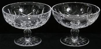 111356: WATERFORD 'LISMORE' CRYSTAL COMPOTES, PAIR