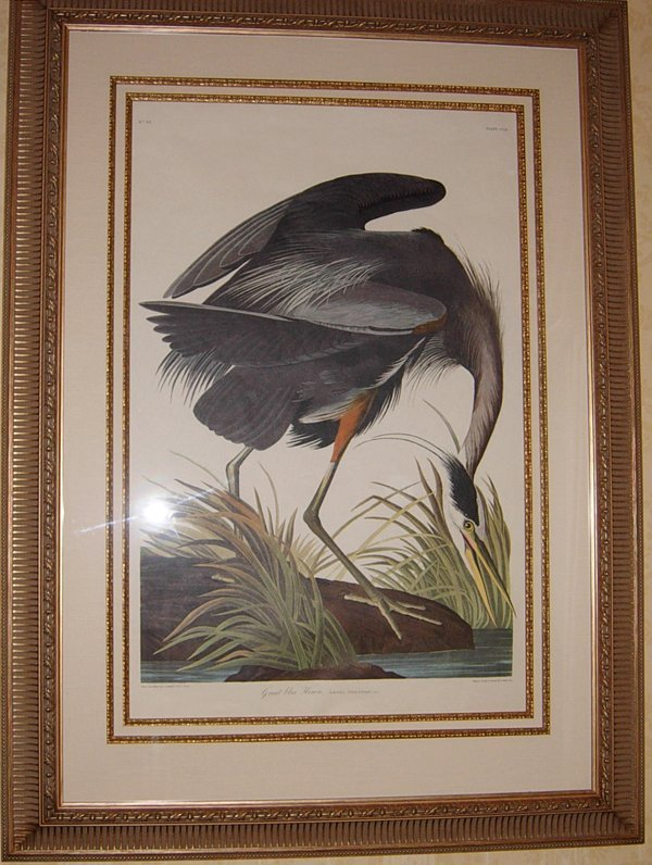 113023: R. HAVELL PRINT 'GREAT BLUE HERON'