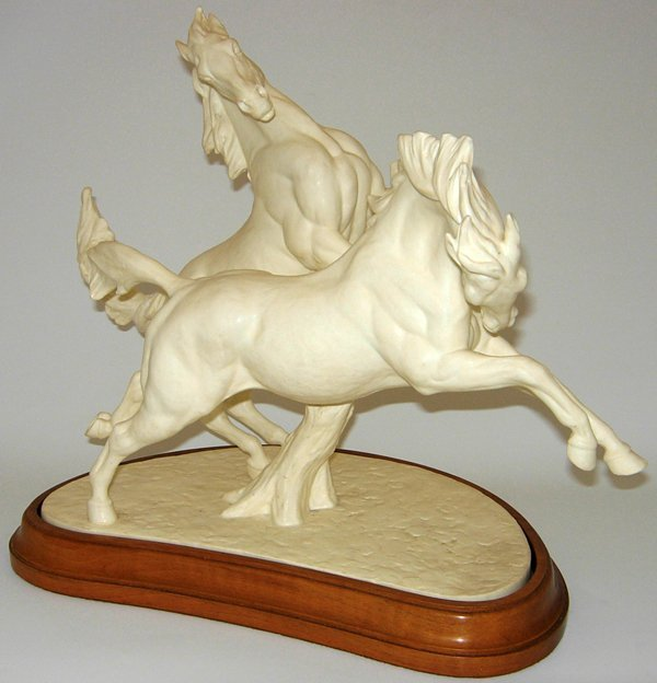 113456: ROYAL WORCESTER CHINA 'GALLOPING HORSES' W18""