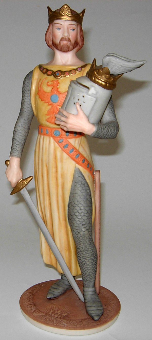 113458: ISPANKY BISQUE FIGURE OF A KING, H12""