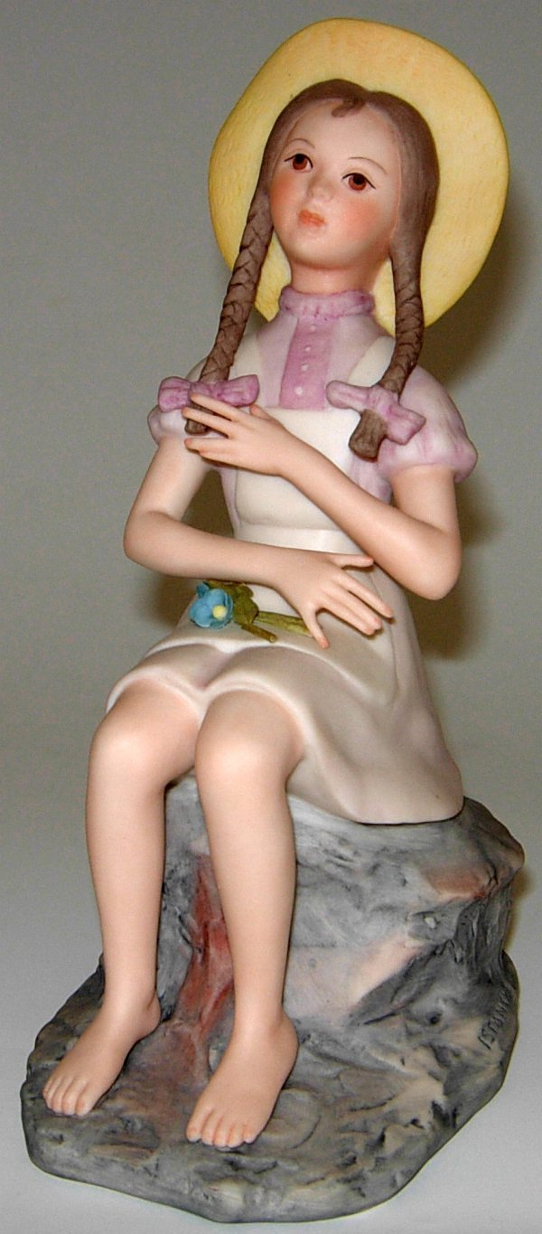 113459: ISPANKY BISQUE FIGURE OF GIRL W/PIGTAILS, H8""