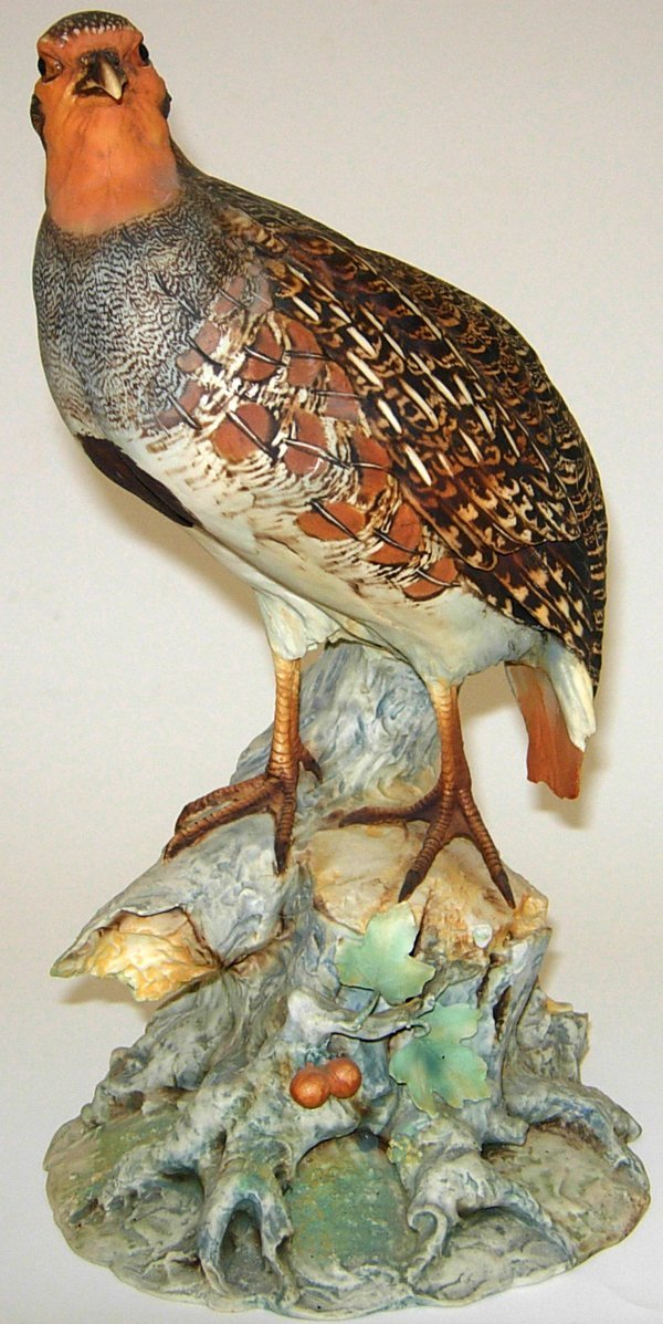113460: TAY BISQUE FIGURE, 'PARTRIDGE', H12""