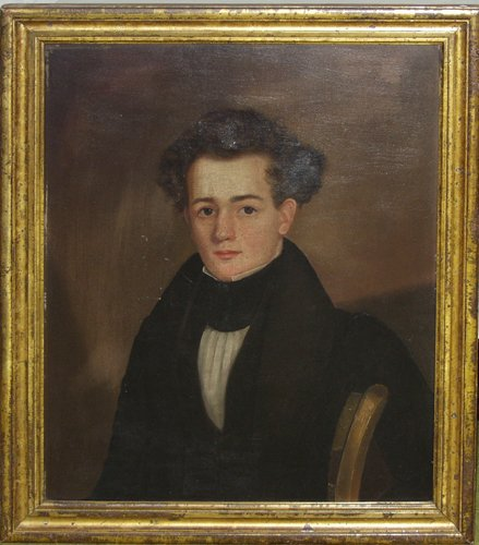 2005: EARLY AMERICAN PORTRAIT OF YOUNG MAN, ALONSO TUFT