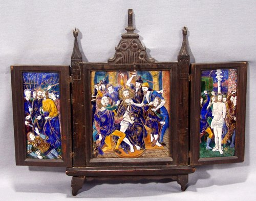 2010: GERMAN ENAMEL TRIPTYCH, SCENES FROM THE PASSION O