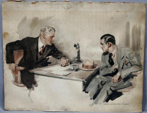 2012: JAMES MONTGOMERY FLAGG (AMERICAN 1877-1966), WATE