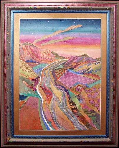 2014: FRAN LARSEN (AMERICAN 1937 - ?), WATERCOLOR ON PA