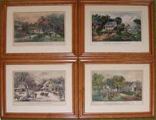 2148 CURRIER AND IVES HAND COLORED LITHOGRAPHS AMERI