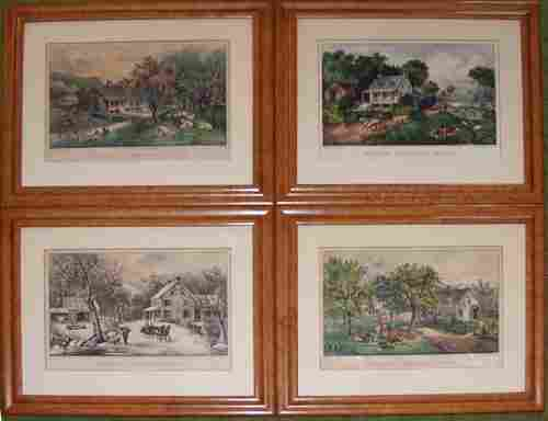 2148: CURRIER AND IVES, HAND COLORED LITHOGRAPHS, AMERI
