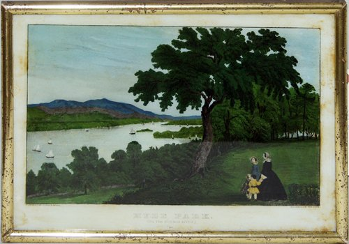 """2149: CURRIER AND IVES, HAND COLORED LITHOGRAPH, """"HYDE"""