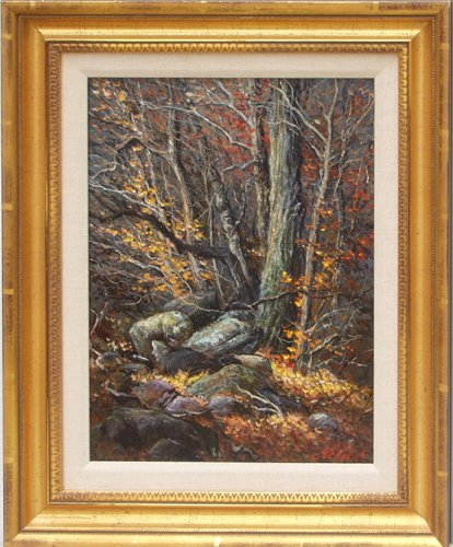 """2507: GEORGE BENEDICT OIL ON BOARD, """"SUNNY YELLOW"""" 15"""""""