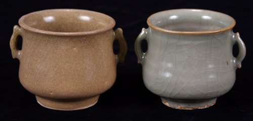 113013: CHINESE CHEKIANG CELADON WARE CUPS, SOUTHERN SU