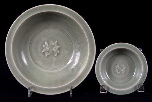 113020: CHINESE LUNG-CH'UAN CELADON WARE DISHES, LATE S