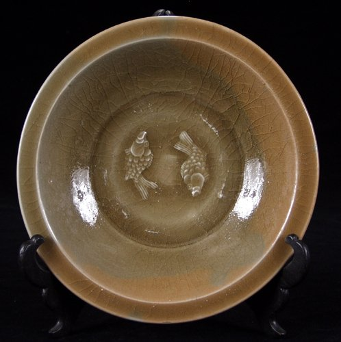 113021: CHINESE LUNG-CH'UAN CELADON WARE DISH, LATE SUN