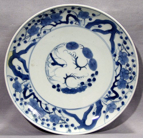 113416: JAPANESE BLUE & WHITE PORCELAIN CHARGER, 19TH C