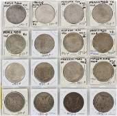U.S. MORGAN & PEACE STERLING SILVER, $1.00 COINS