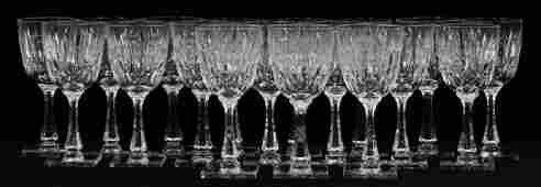 """HAWKES """"TRIUMPH"""" CRYSTAL WATER GOBLETS, 18 PCS"""