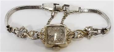 HAMILTON  14K WHITE GOLD DIAMOND LADYS
