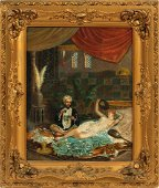 SIGNED FORTUNY ORIENTALIST OIL ON CANVAS PAINTING