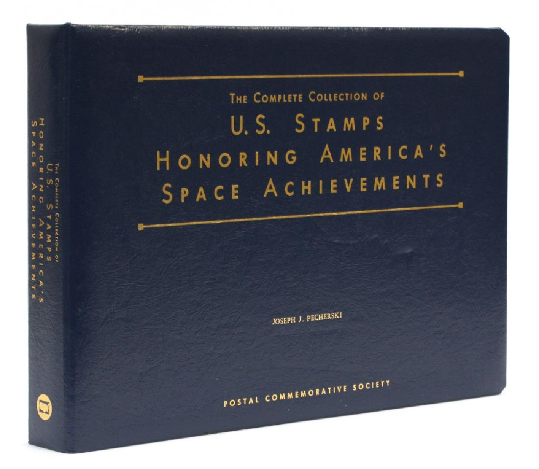 STAMP BOOK HONORING AMERICA'S SPACE ACHIEVEMENTS
