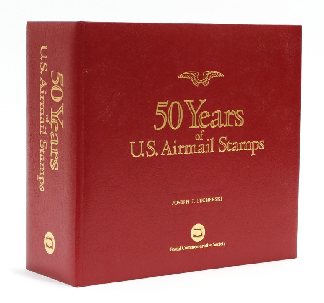 """""""50 YEARS OF U.S. AIRMAIL STAMPS"""" STAMP BOOK"""