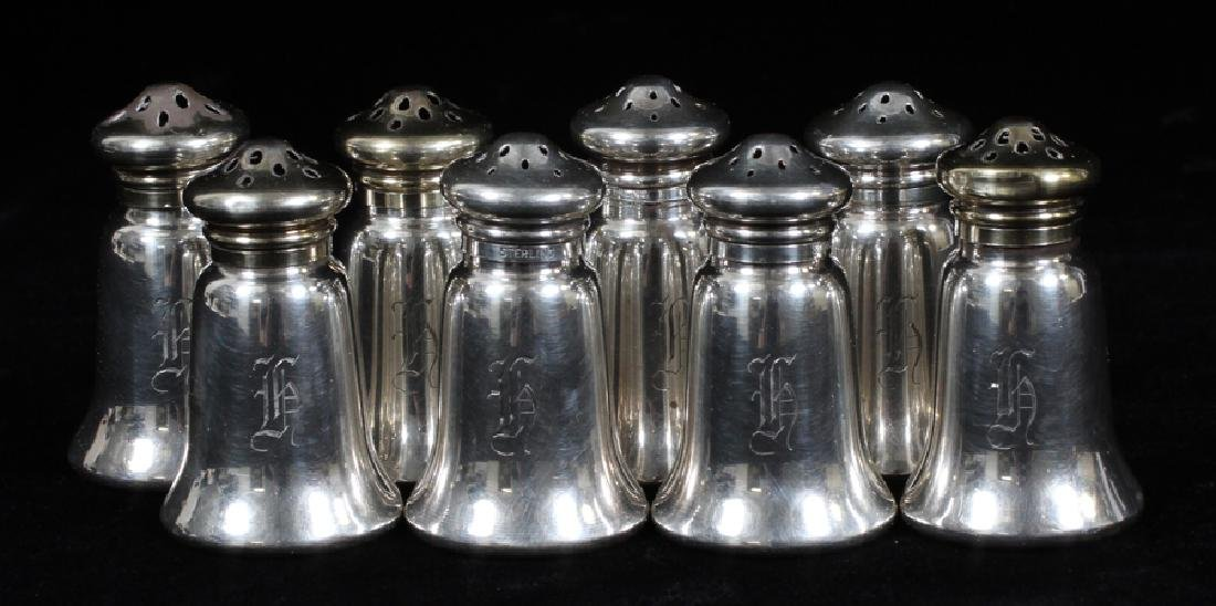 GORHAM STERLING SILVER SALT/PEPPER SHAKERS, 8 PCS