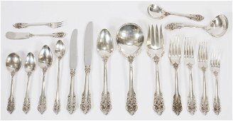 WALLACE GRAND BAROQUE STERLING SERVICE FOR 12