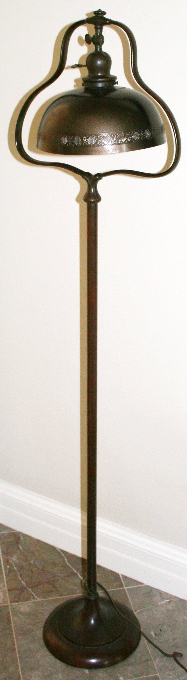 """120006: BRONZE FLOOR LAMP, C.1910, H56.5"""" DIA14"""""""