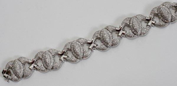 120010: 17.2CT EUROPEAN CUT ROUND DIAMOND BRACELET