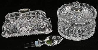 121349 WATERFORD CRYSTAL WINE STOPPER DISH  BARREL