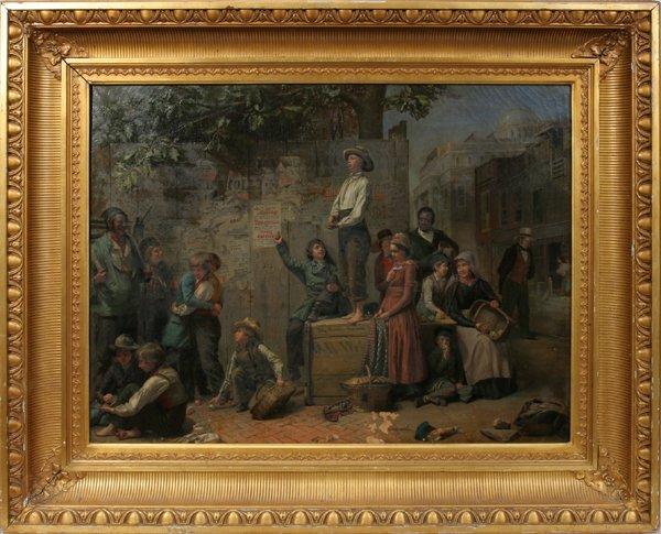 122006: AMERICAN SCHOOL OIL ON CANVAS, NEW YORK SCENE