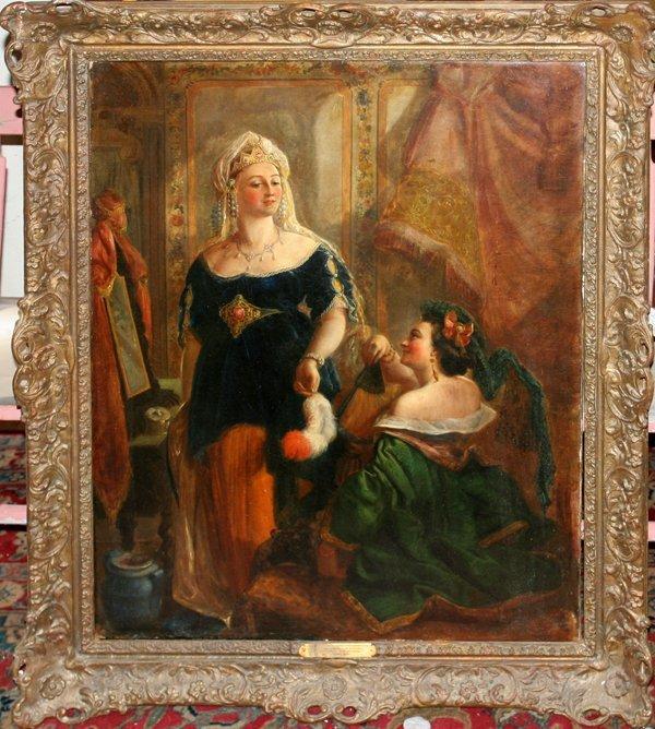 122008: EDWARD WM JOHN HOPLEY OIL ON CANVAS, WOMEN
