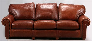 STICKLEY CRAFTSMAN LEATHER COUCH