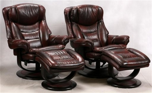 Awe Inspiring Lane Leather Recliners Ottomans Pair Evergreenethics Interior Chair Design Evergreenethicsorg