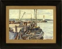 REGINALD MARSH WATERCOLOR, 1927
