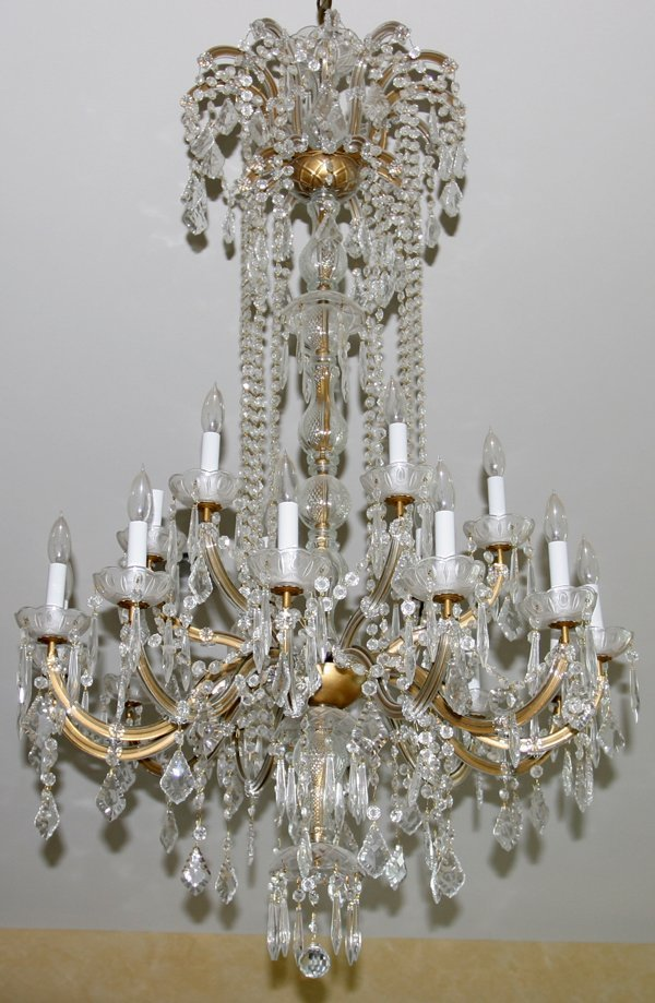 """010003: FRENCH STYLE CHANDELIER, H50"""" W23"""""""