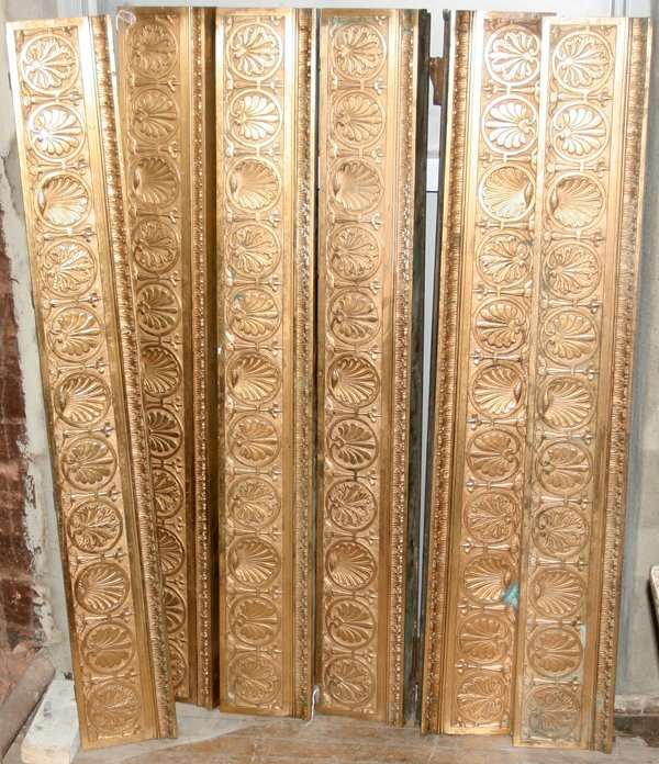 011024: FRENCH STYLE BRONZE VALANCES, SET OF EIGHT