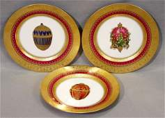 011068 AFTER FABERGE PORCELAIN PLATES THREE 78