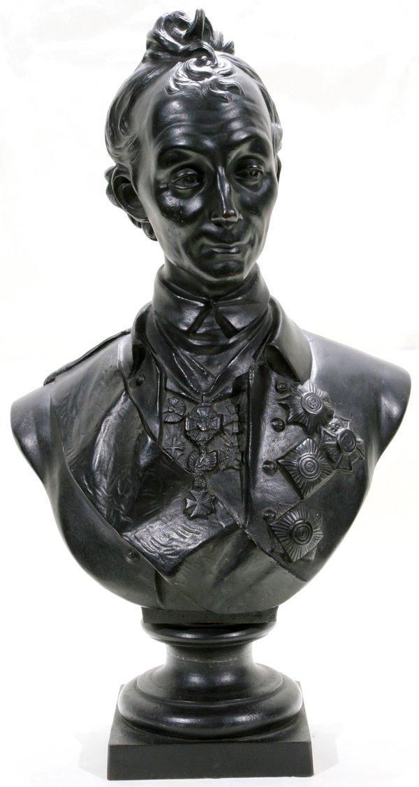 012013: E. GINSBURG BRONZE BUST, ALEXANDER V. SUVOROV