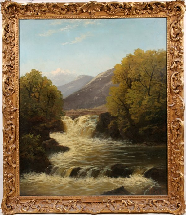 012014: FRANCIS MUSCHAMP OIL ON CANVAS, CAPEL CURIG