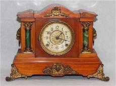 SETH THOMAS MAHOGANY CASE MANTEL CLOCK