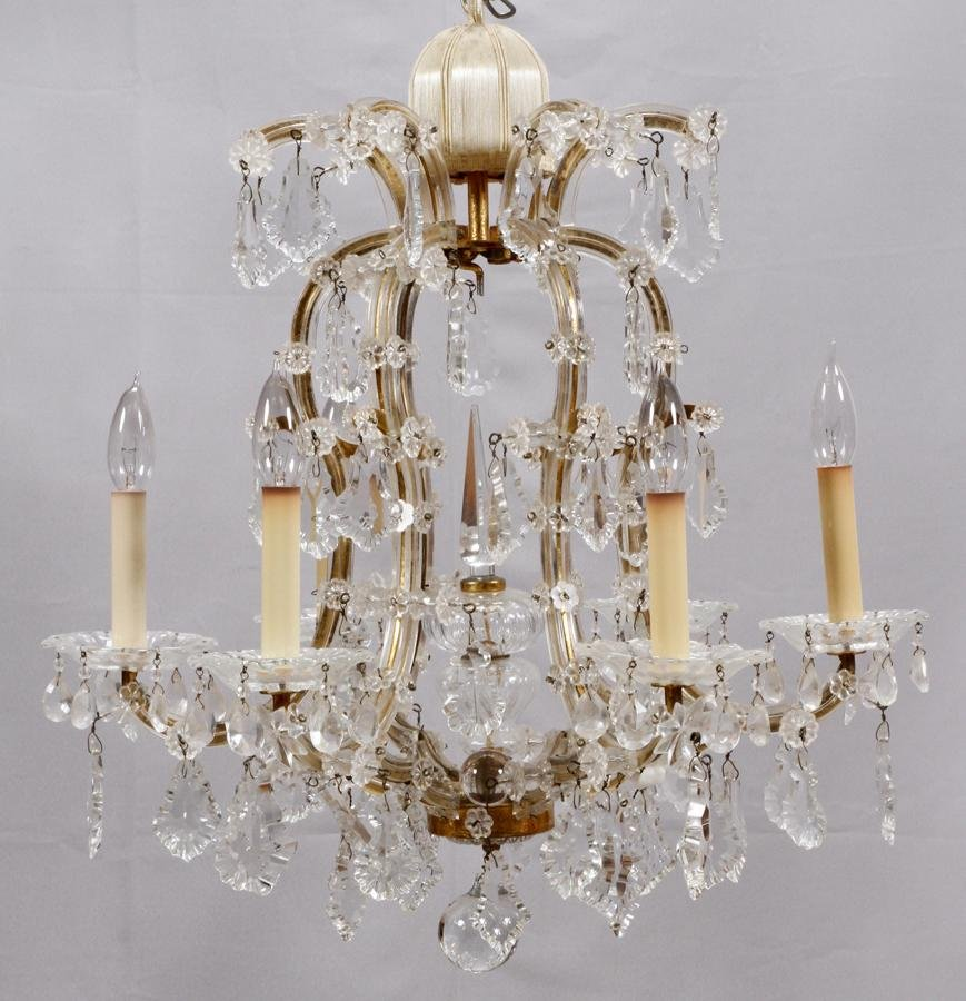 AUSTRIAN MARIE THERESE STYLE, CRYSTAL CHANDELIER