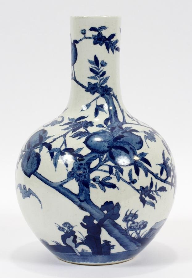 CHINESE, BLUE & WHITE, PORCELAIN VASE