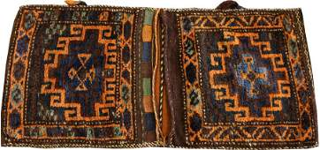 PERSIAN HANDWOVEN WOOL SADDLE BAG W 2