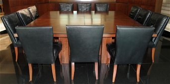 LEE WEITZMAN CONFERENCE TABLES & CHAIRS, 16 PCS