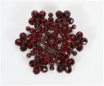 LADY'S VICTORIAN BOHEMIAN RED COLOR GARNET BROOCH