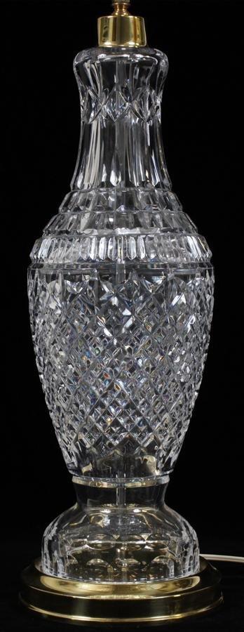 "WATERFORD CRYSTAL LAMP H 33"""