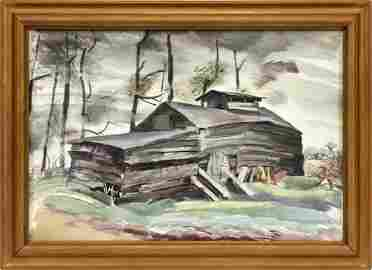 CHARLES E. BURCHFIELD WATERCOLOR, 1931