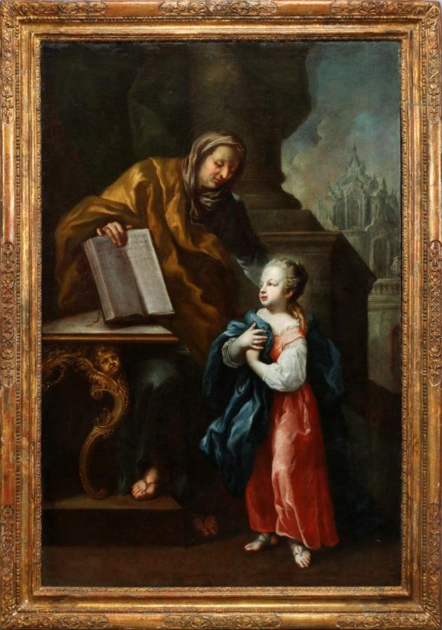 OLD MASTER ATTRIBUTED TO TISCHBEIN OIL ON CANVAS