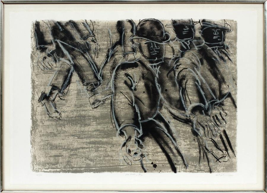 LESTER JOHNSON LITHOGRAPH ON PAPER